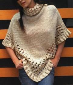 Cómo tejer un poncho de lana