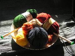 Puntos básicos de tejido a dos agujas