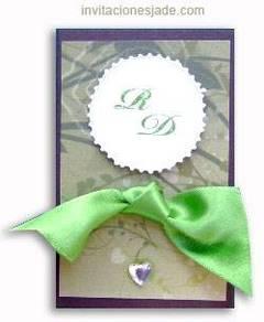 Tarjetas de invitación para bodas estilo scrapbook