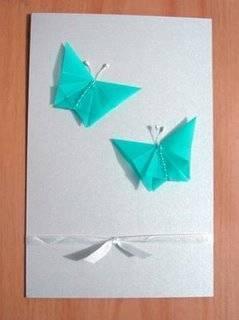 Diseño de tarjetas con figuras de origami