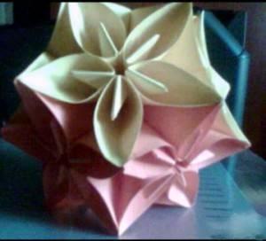 Stella di fiori di origami - Origami de una estrella ...